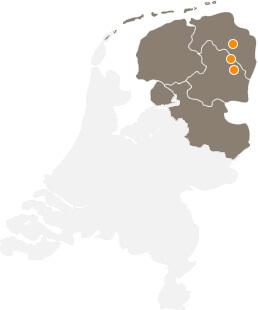 Kaart Nederland locaties